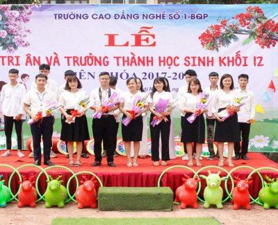 Lễ Tri ân và Trưởng thành khối lớp 12 hệ vừa học văn hóa vừa học nghề.